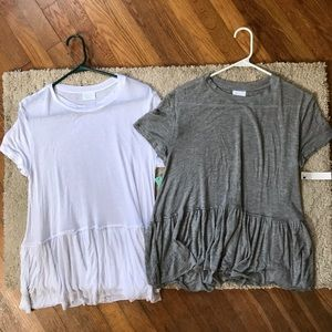NWT Abound peplum tees